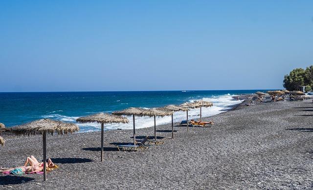 santorini tengerpartja
