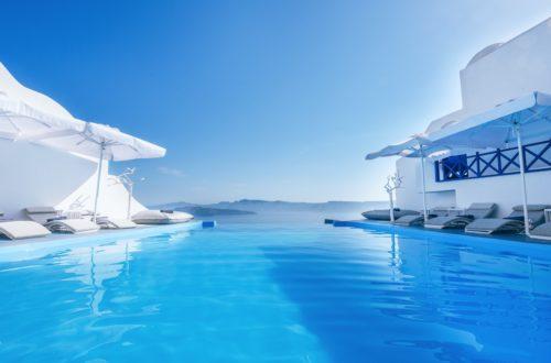 A legszebb medencés szállodák santorinin