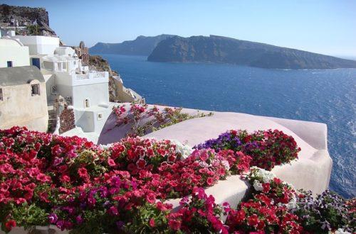Santorini áprilisban