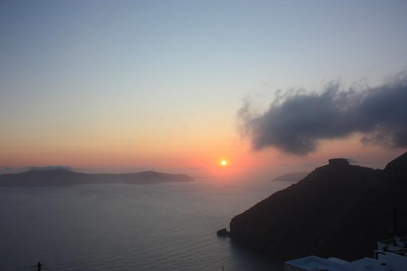 naplemente Santorini