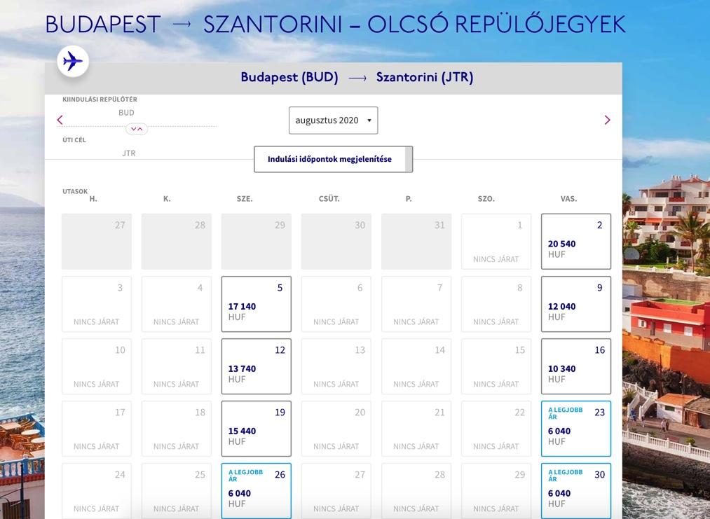 autóval vagy repülővel menjünk Santorinire?
