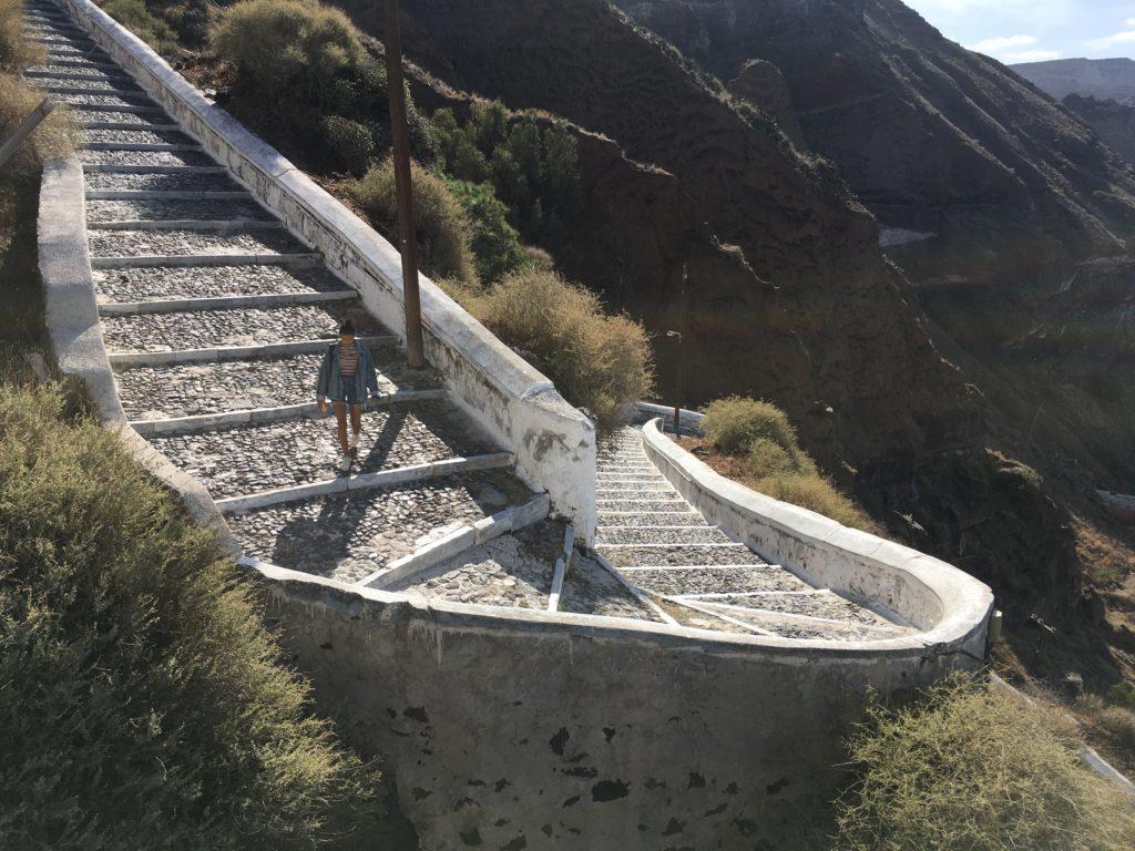 Mi a helyzet Santorini - üres a lépcső