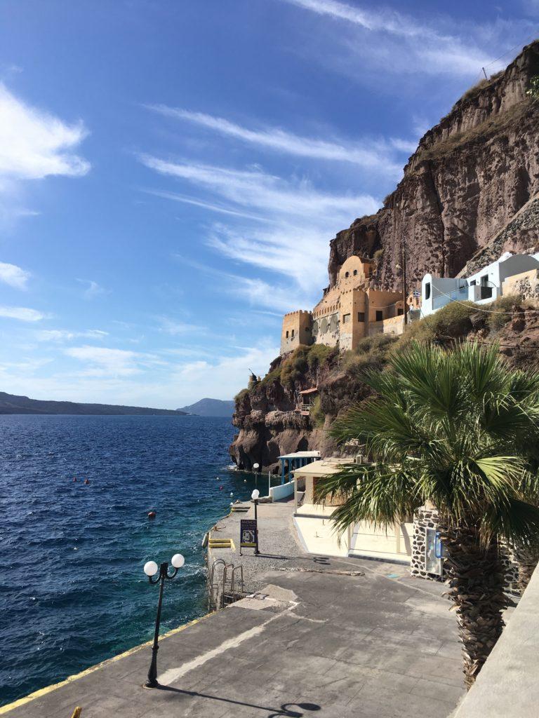A régi kikötő Fira alatt: Az októberi Santorini képekben
