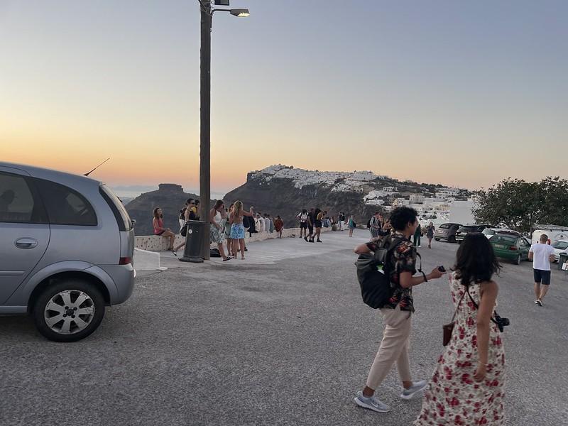 szeptemberben Santorini